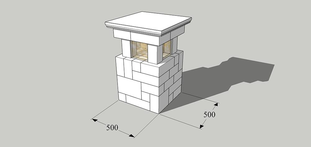Схема изделия «Столб
